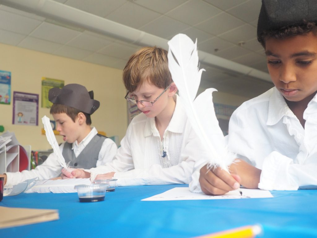 5th grade Mirowitz social studies lesson colonial day private school