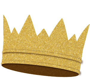 gold sparkly crown representing $1800 sponsor level